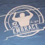 blue long sleeve logo